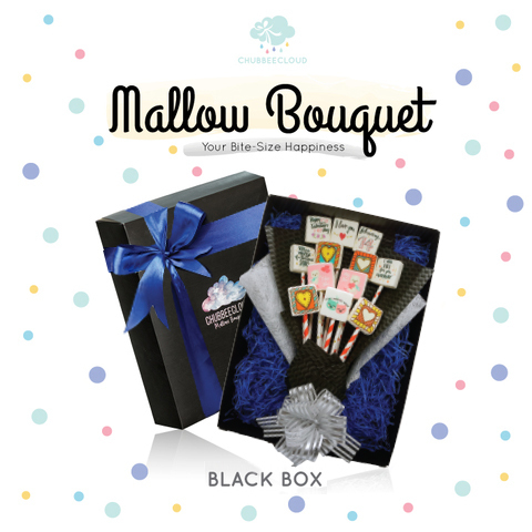 Mallow Bouquet  - Black Box (Strawberry)