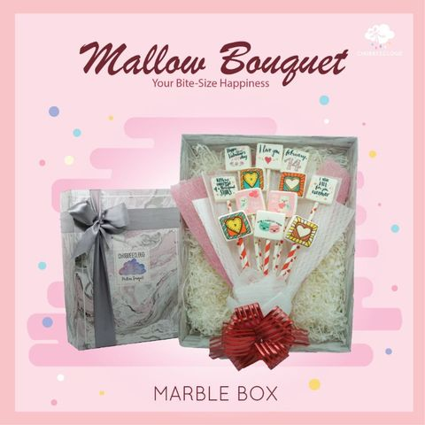 Mallow Bouquet - Marble Box (Strawberry)